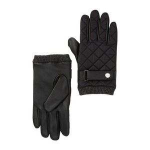 14th & Union Gloves M Puffer Moto Leather Quilted